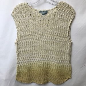 NWOT Vintage Ombre Cable Knit Sleeveless Sweater